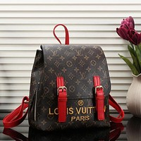 Perfect Louis Vuitton Women Leather Bookbag Shoulder Bag Handbag Backpack