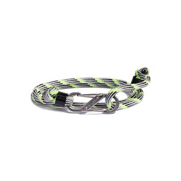 """Boom"" Paracord Bracelet with Steel S-Hook Clasp"
