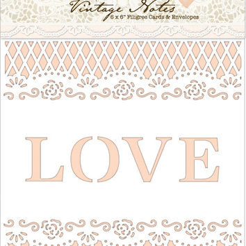 papermania vintage notes fabric paper-filigree lace