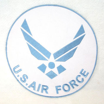 US AIR FORCE ROUND LARGE BACK PATCH FOR BIKER MOTORCYCLE JACKET VEST