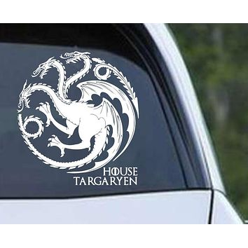 Game of Thrones House Targaryen Dragon ver b Die Cut Vinyl Decal Sticker