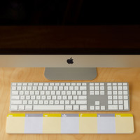 Lulalu Desk & Keyboard List Pad Weekly Stripes Grey & Yellow