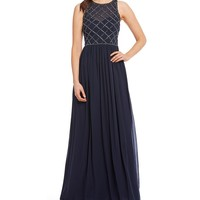Adrianna Papell Beaded Bodice Gown | Dillards