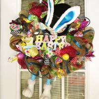 Easter Bunny Wreath with Ears and Legs