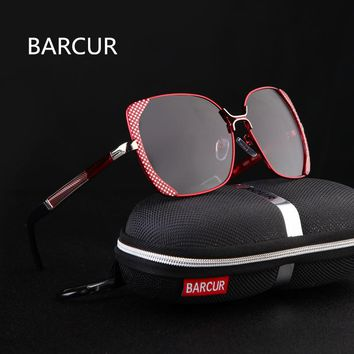 BARCUR Female Sunglasses Women Brand Designer Polarized Sunglasses Summer HD Polaroid Lens Sun Glasses for Women Shades
