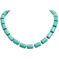 Trendy Choker Bib Turquoise Gemstone Chunky Necklace