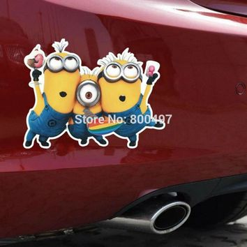 Newest Minions Despicable Me Jerry Jorge Stuart Body Stickers Car Decal for Toyota  Chevrolet Volkswagen Tesla  Kia Lada