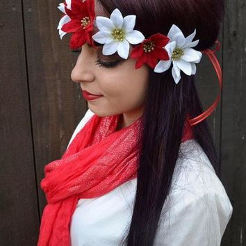 Poinsettia Headband #C1049
