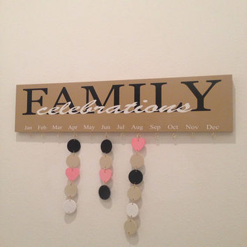 Family Birthday and Celebration Board with 20 discs