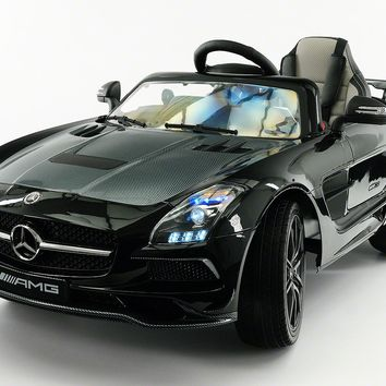 Mercedes SLS AMG Final Edition 12V Kids Ride-On Car with Parental Remote | Black Metallic