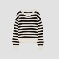 STRIPED SWEATER WITH ROUND NECKLINE