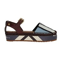 Dolce & Gabbana Blue Striped Espadrilles Sandals