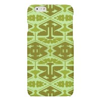 Art Deco Flair - In Green Matte iPhone 6 Case