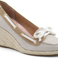 Sperry Top-Sider Clarens Espadrille Wedge SandEngineerStripe, Size 6M  Women's Shoes