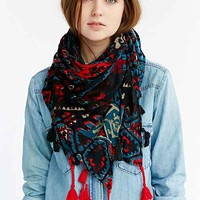 Tapestry Square Scarf- Blue Multi One