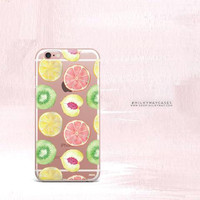 Clear TPU Case Cover for Apple iPhone - Summer Citrus