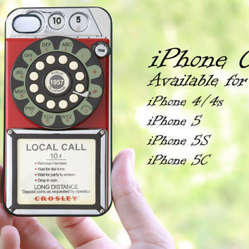 vintage phone design iphone case for iphone 4 case, iphone 4s case, iphone 5 case, iphone 5s case, iphone 5c case