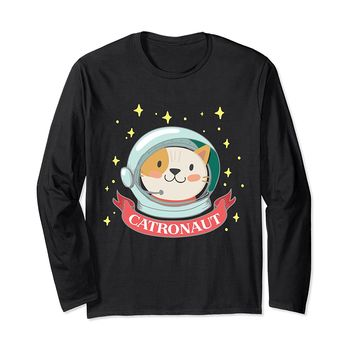 Catronaut Funny Cat Long Sleeve T-Shirt