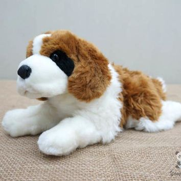 St. Bernard Dog Stuffed Animal Plush Toy