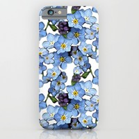forget me not iPhone & iPod Case by Gaynor Carradice