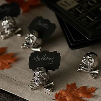 SKULL & CROSSBONES PLACE CARD HOLDER, SET OF 4