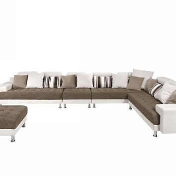 Elegant, Modern Fabric Sectional Sofa