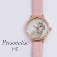 WOODLAND BUNNY DUSTY PINK & ROSE GOLD WATCH