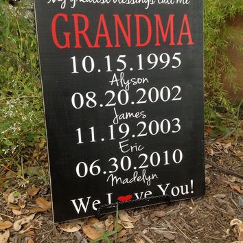 Shop Personalized Grandparent Signs on Wanelo