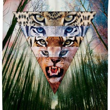 Wild Cats Shower Curtain