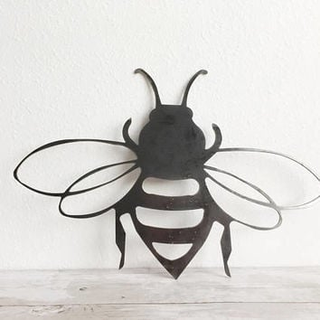 Bee Wall Art - Metal Bee - Metal Sign - Bee Lover - Honey Bee - Metal Wall Decor