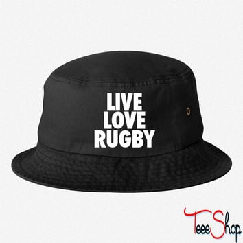 Live Love Rugby bucket hat