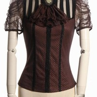RQBL Melisandre Blouse in Brown