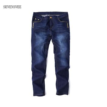 Jeans men 2017 new mens Light blue jeans Men thin section straight denim long pants loose high quality Button jeans CHOLYL