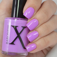 Violet Neon Creme Nail Polish -Southland Sunsets Collection - Sun Bleached Melon Neon Nail Polish - Purple Pastel Neon Polish