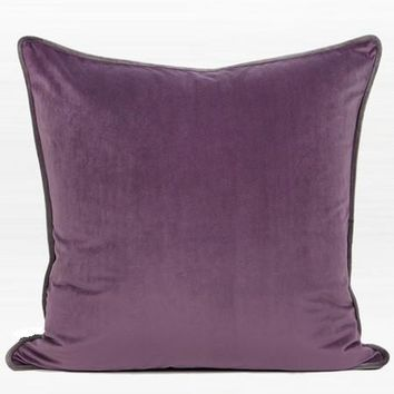 """Purple Solid Color Flannel Fabric Pillow 20""""X20"""""""
