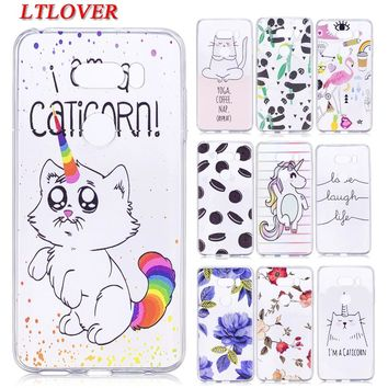Coque For LG V30 Cases Soft TPU Cartoon Back Cover Transparent Silicone Phone Case For LG V30 V 30 Cases Mobile Phone Shell Capa