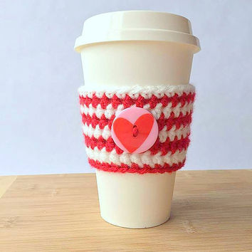 Coffee Cozy / Coffee Sleeve /  Crochet Coffee Sleeve / Cup Cozy / Coffee Cup Cozy / Crochet Coffee Cup Cozy / Valentine's Day Cozy / Mug