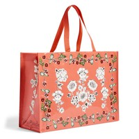 Market Tote in Coral Floral