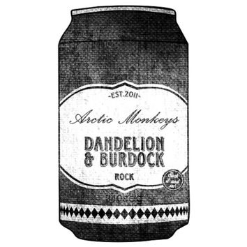 Arctic Monkeys - Dandelion & Burdock Can by Kurium