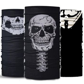 2017 New Skull Bandana Camouflage Headband Scarf Multi Functional Seamless Tubular Magic Face Mask Tube Ring unisex Scarf