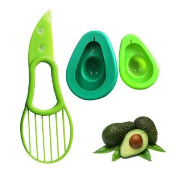 Free Shipping 2PC /Set Fruit Slicer Avocado Cutter Knif and Saver