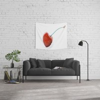 Only one cherry Wall Tapestry by tanjariedel