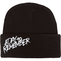 A Day To Remember Men's B-Side Logo Beanie Black