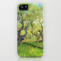 Orchard in Blossom, post impressionism fine art by Vincent van Gogh.  iPhone & iPod Case by NatureMatters