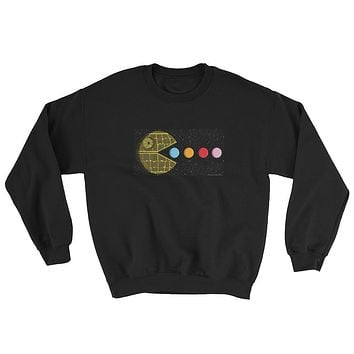 PAC-MOON Death Star Pac-Man Mashup Sweatshirt by Aaron Gardy