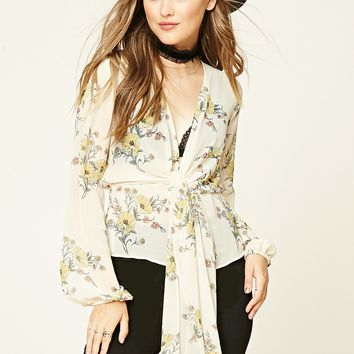 Contemporary Floral Blouse