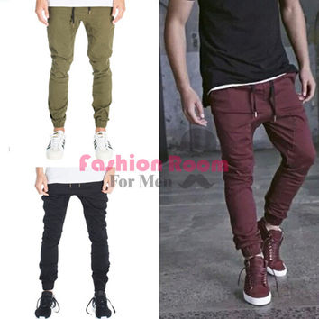 mens joggers casual cargo pants fashion men Jogger Pants men hip hop army urban clothes pants green black wine red trousers