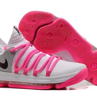 qiyif Nike Men's Durant Zoom KD 10 EP Basketball Shoes Pink 40-46