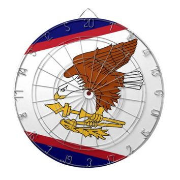 Dartboard with Flag of American Samoa