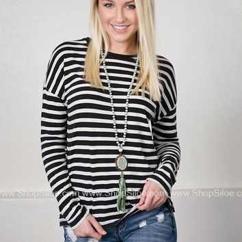 Classic Black Striped Top
